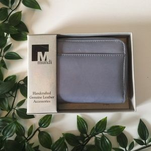 NWT Baby Blue Leather Wallet